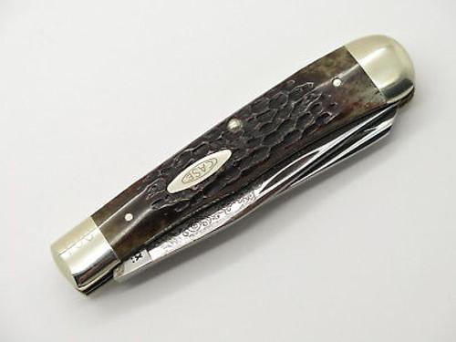 Vtg 1980 Case XX 6254 Jedediah Smith Trapper Bone Folding Pocket Knife