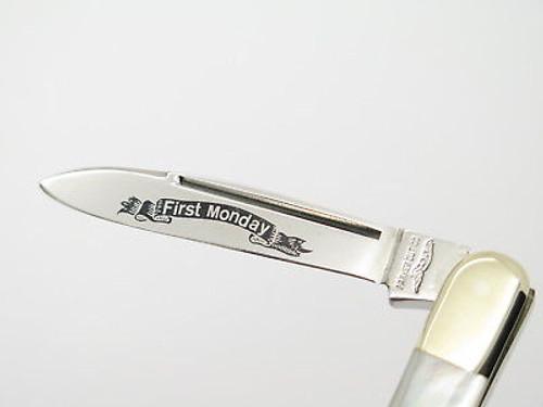 Vintage Parker Seki Japan Whittler Mother Of Pearl MOP Folding Pocket Knife
