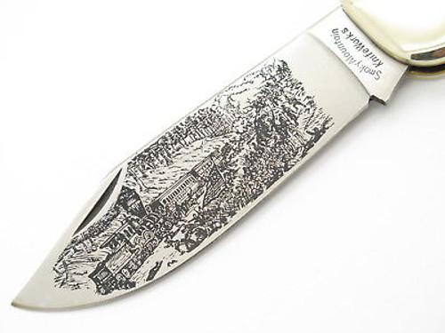 Vtg 1980 Parker Seki Japan Usa Civil War Folding Hunter Clasp Knife