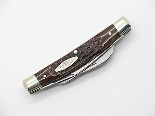 Vtg 1980 Case XX 64052 Congress Bone Folding Pocket Knife N. Mint *crack