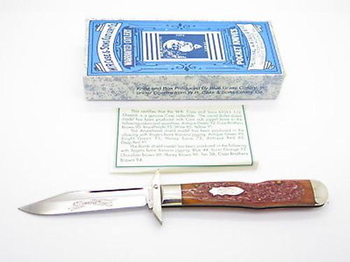 Case Classic XX 61011 1/2 Cheetah Orange Banana Swing Guard Folding Knife