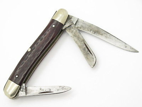 Vtg 1965-1969 Case XX 6318 Stockman Bone Folding Pocket Knife Used