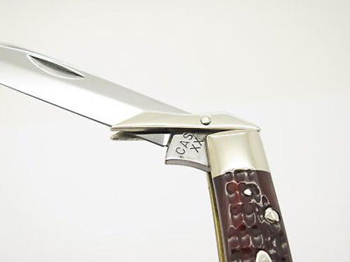 Vtg 1940-1964 Case XX 61011 1/2 Cheetah Folding Swing Guard Knife Red Bone