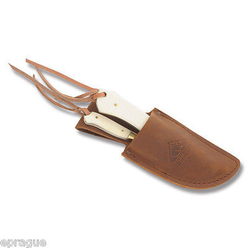 Puma Leather Fixed Blade Hunting Knife Sheath for SGB Trophy Care Knife Set
