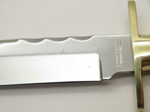 Vtg A. Wright & Son Sheffield England Stag Fixed Blade Bowie Hunting Knife