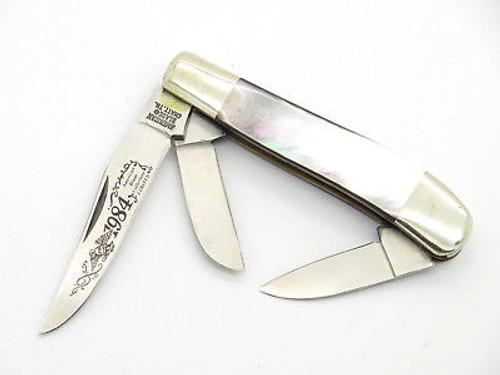 VINTAGE 1984 AMERICAN BLADE LE PARKER SEKI JAPAN PEARL FOLDING POCKET KNIFE