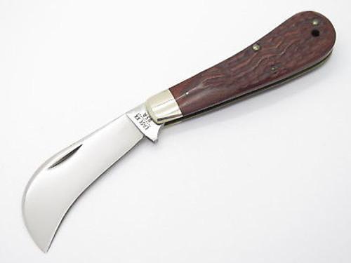 Vtg 10 Dot 1980 Case XX 61011 Hawkbill Pruner Folding Pocket Knife