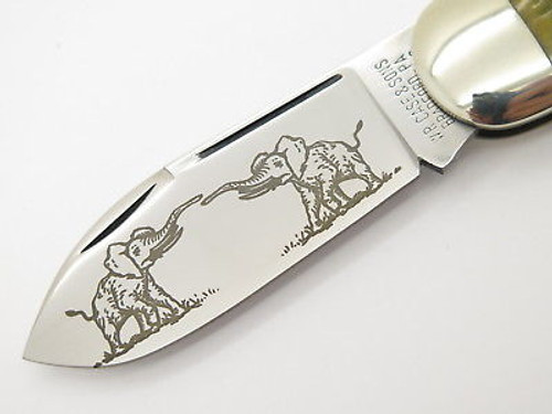 Case Classic XX 62050 Sunfish Elephant Green Toenail Knife Special Etch 1 Of 9