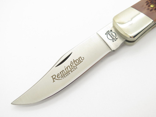 c. 1994 Remington UMC USA R-9 Outdoorsman Folding Hunter Lockback Knife