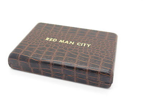 VINTAGE PARKER STANDING STONE SEKI JAPAN RED MAN CITY FOLDING POCKET KNIFE & CASE