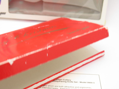 VINTAGE KERSHAW KNIVES RED MERRY CHRISTMAS KNIFE DISPLAY BOX