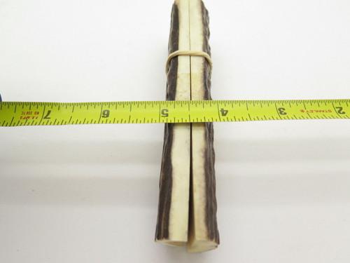 VINTAGE 4.875 x 1.3 INDIA SAMBAR STAG SCALE SLAB KNIFE MAKING HANDLE GRIP BLANK