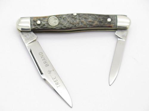 Vtg 1970s Boker USA Tree Brand 3588 2 Blade Pen Folding Pocket Knife