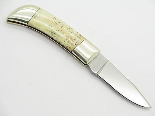 Vtg Parker Seki Japan IPCO 440 Stainless Folding Pocket Knife Bone Handle