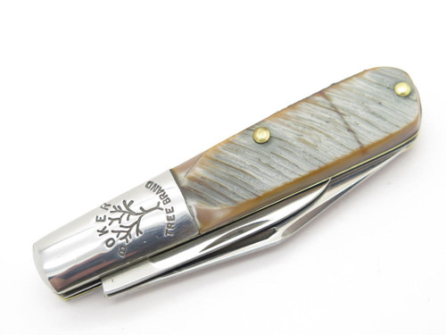 Vtg 1970s Boker USA Tree Brand 493 2 Blade Barlow Folding Pocket Knife