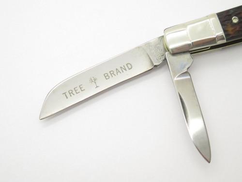 Vtg 1970s Boker USA Tree Brand 6113 4 Blade Congress Folding Pocket Knife