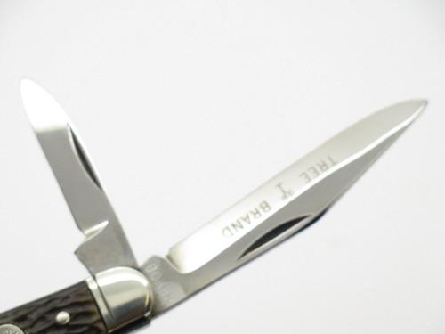 Vtg 1970s Boker USA Tree Brand 8368 2 Blade Jack Folding Pocket Knife