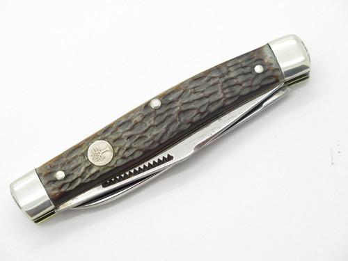 Vtg 1970s Boker USA Tree Brand 3030 2 Blade Muskrat Folding Pocket Knife