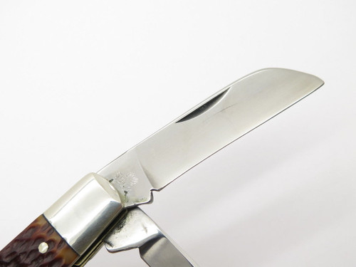 Vtg 1970s Boker USA Tree Brand 5974 4 Blade Congress Folding Pocket Knife