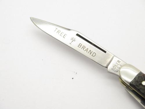 Vtg 1970s Boker USA Tree Brand 8593 3 Blade Stockman Folding Pocket Knife