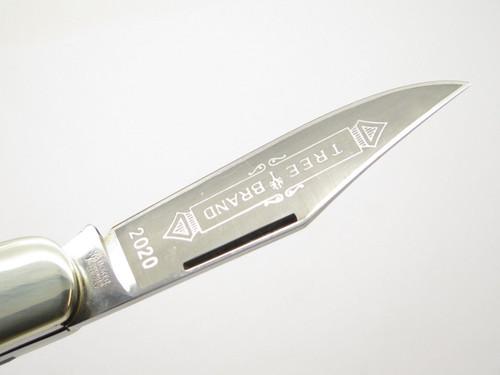 Vtg 1970s Boker Germany Tree Brand 2020 2 Blade Large Folding Pocket Knife