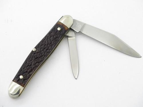 Vtg 1970s Boker USA Tree Brand 8348 2 Blade Jack Folding Pocket Knife