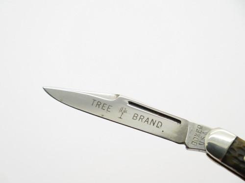 Vtg 1970s Boker USA Tree Brand 8288 2 Blade Pen Folding Pocket Knife