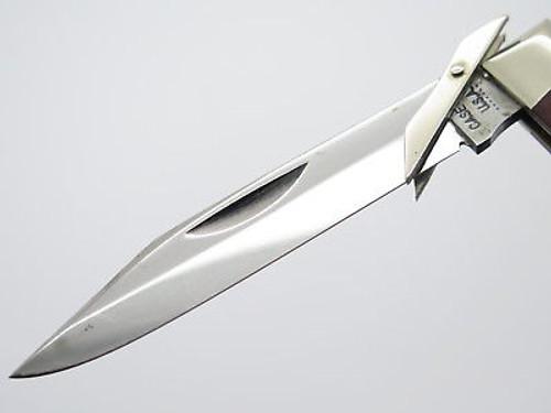 VINTAGE 1973 CASE XX 6111 1/2 BONE CHEETAH SWING GUARD FOLDING POCKET KNIFE