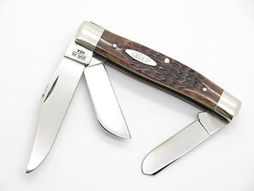 Vtg 1980 Case XX 6392 Premium Stockman Jigged Bone Folding Pocket Knife