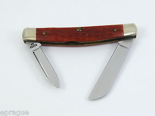 1996 Case XX 62052 SS Red Jigged Bone Congress Folding Pocket Knife Tin