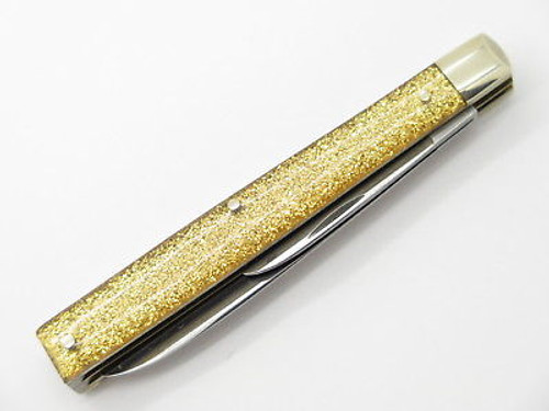 1990s Case XX GS 285 Gold Glitter Solingen Doctor Folding Pocket Knife