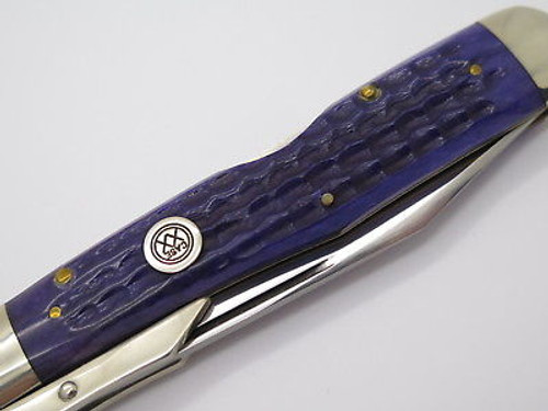 Case Classic XX 61011 1/2 Cheetah Purple Swing Guard Folding Knife Bullet