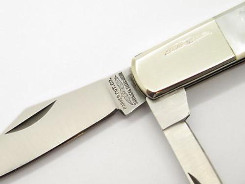 Vtg Parker Seki Japan Barlow Mother Of Pearl Folding Pocket Knife