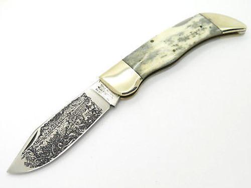 Vtg Parker Eagle Brand Japan USA Civil War Folding Hunter Clasp Knife