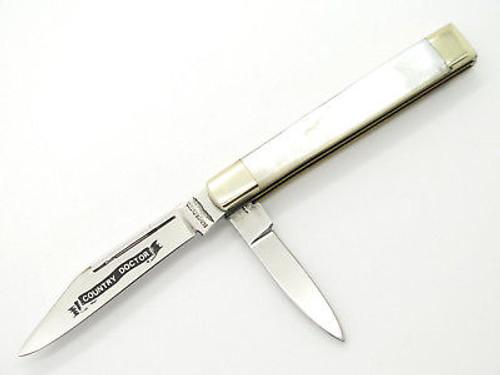 VINTAGE 1980 PARKER SEKI JAPAN MSKCA LE DOCTOR PEARL MOP FOLDING POCKET KNIFE