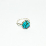 Sterling silver turquoise ring.
