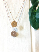 Luna disc necklace
