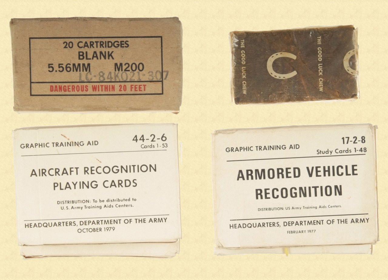 USGI RECOGNITION CARDS LOT - C11615