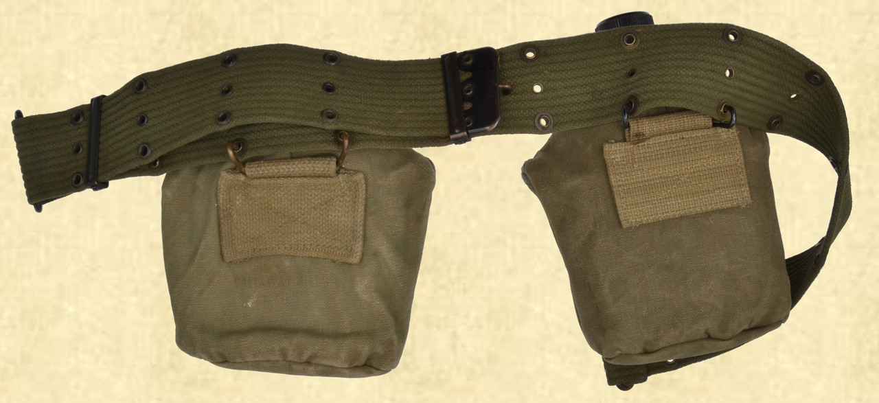 US MILITARY  PISTOL BELT AND CANTEENS - C42450