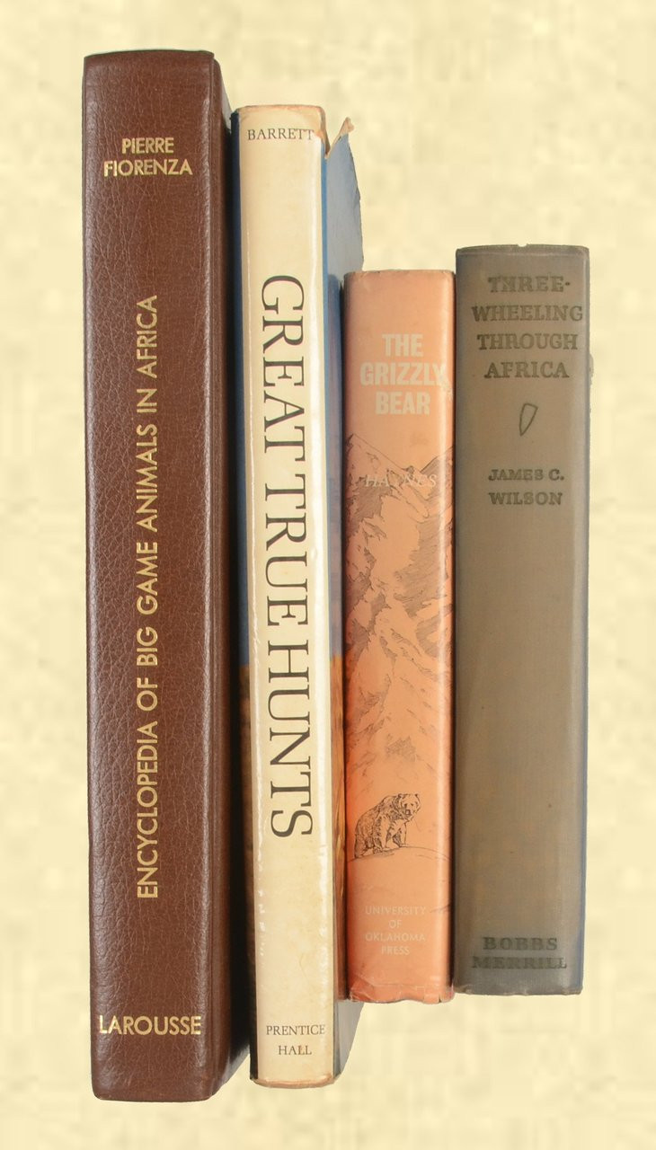 BOOK HUNTING LOT OF FOUR BOOKS - C40290