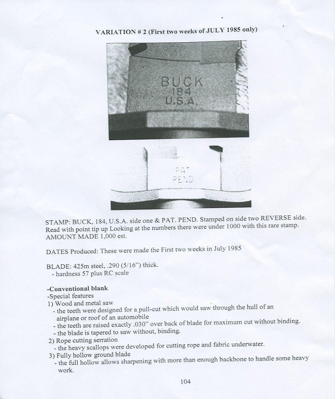 BUCK SURVIVAL KNIFE - M4339