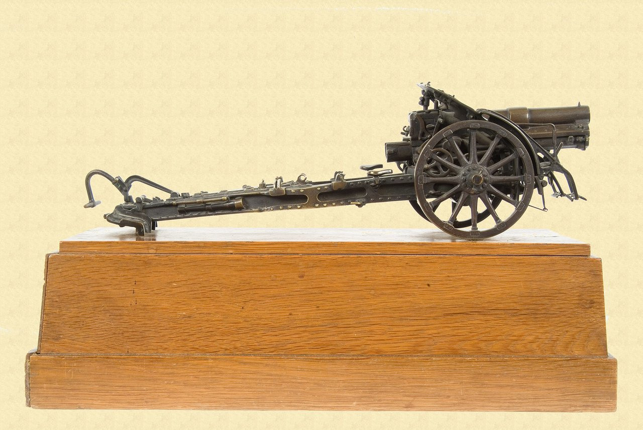 GERMAN WWI PRESENTATION CANON MODEL OF M14 FHB - M1884
