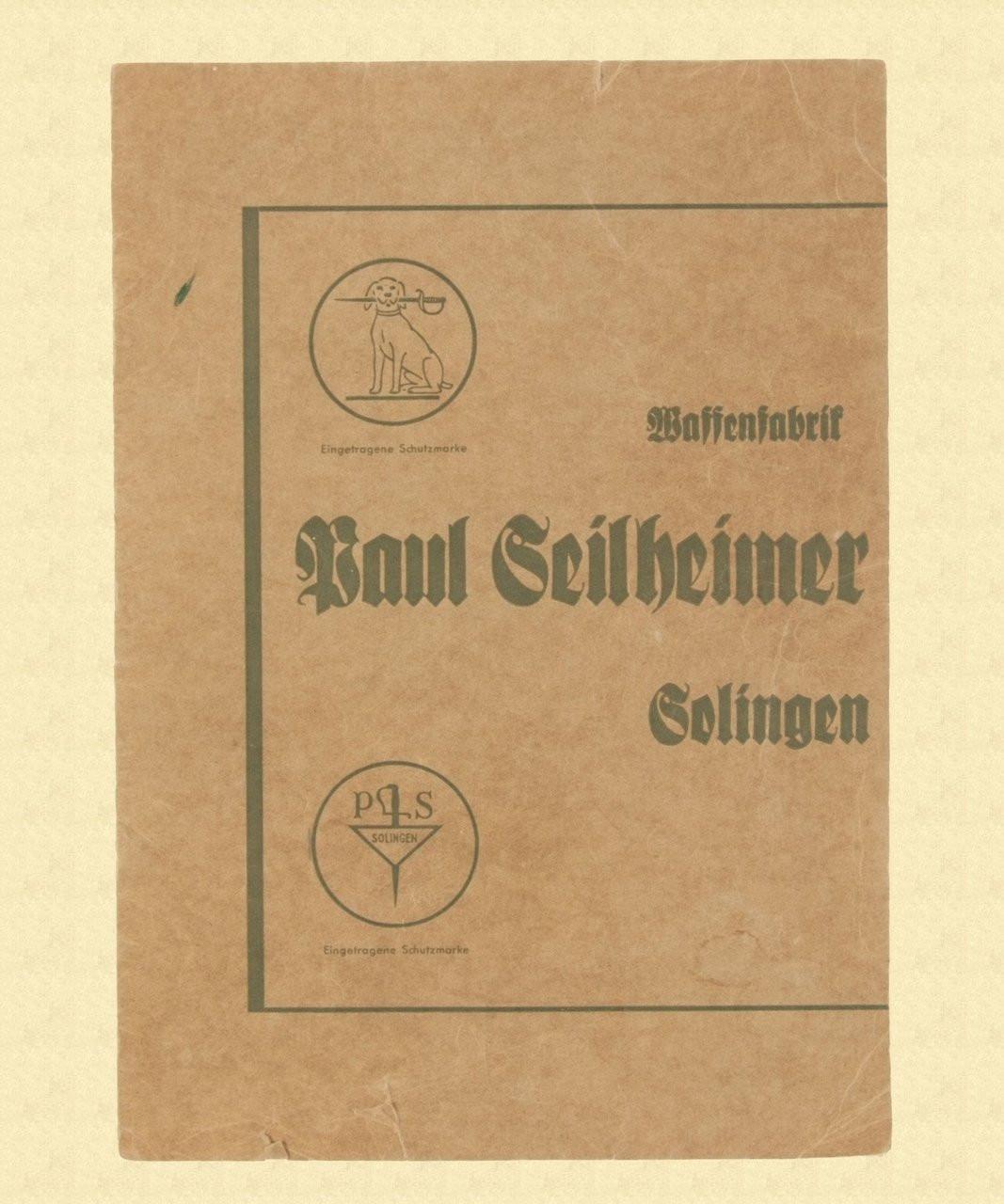 GERMAN SWORD AND DAGGER SALES BROCHURE - C10815