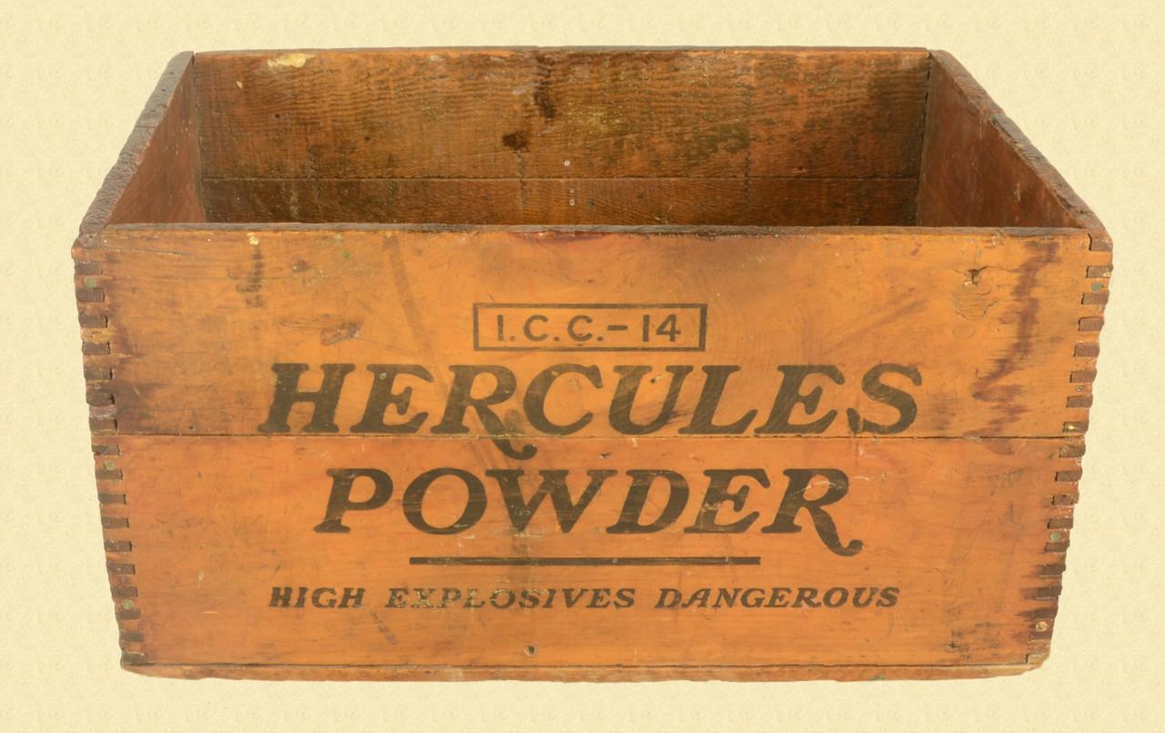 HERCULES POWDER WOODEN SHIPPING CRATE - C31347