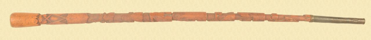 AMERICAN PATRIOTIC FOLK ART CANE - C31403