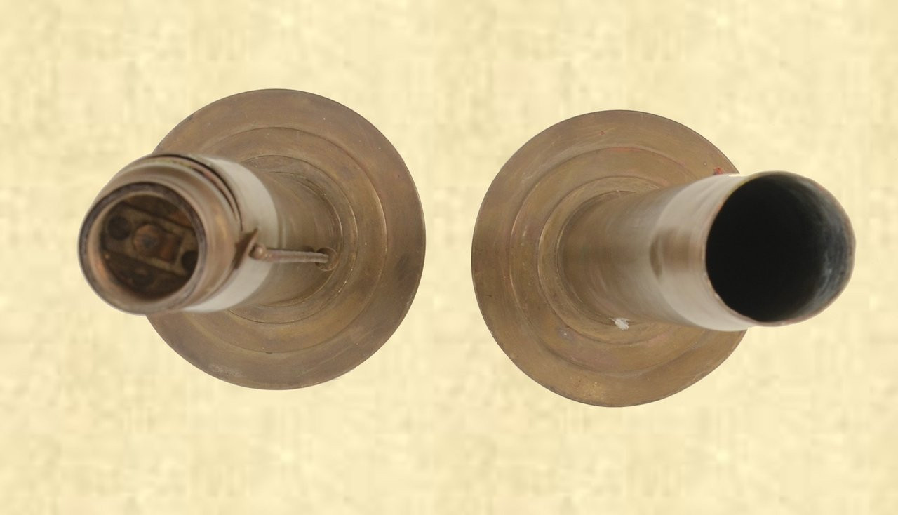 """PAIR OF """"TRENCH ART"""" LAMP BASES - C41651"""
