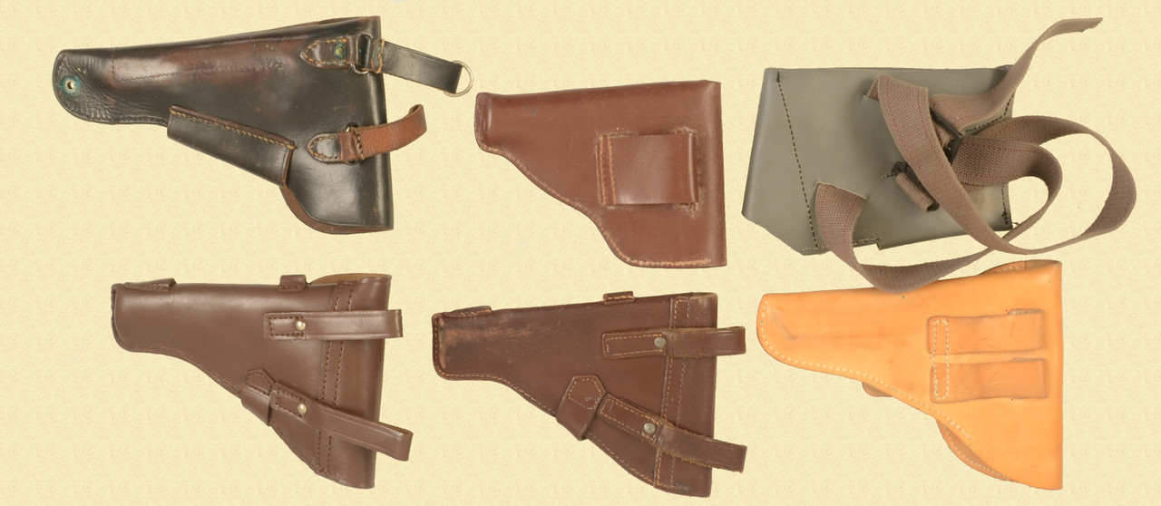 HOLSTERS SIX ASSORTED MILITRY HOLSTERS - C33490