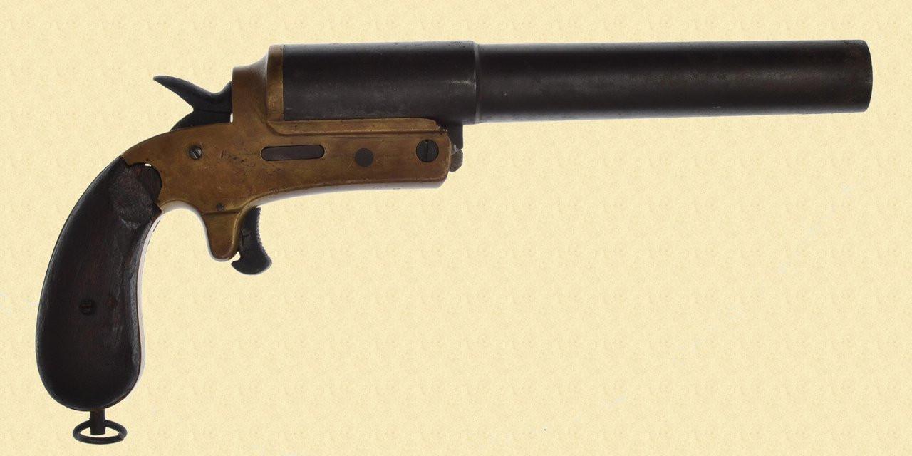 GERMAN WW1 DRUCKKNOPF FLARE PISTOL - C28835