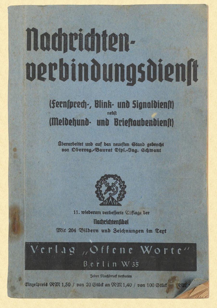 GERMAN WW2 COMMUNICATIONS FIELD MANUAL - C26119