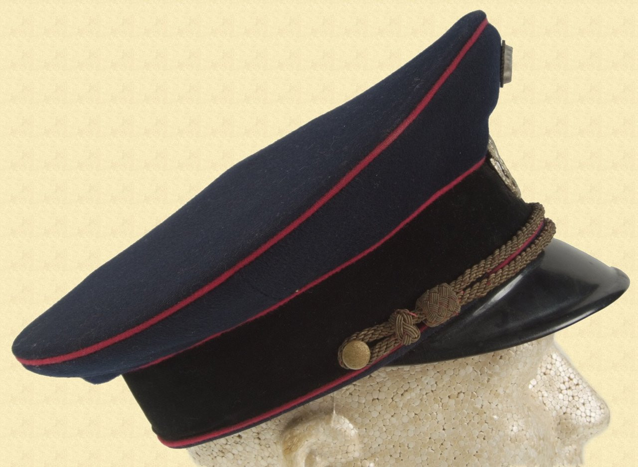 GERMAN WW2 FIRE POLICE VISOR HAT - M2726